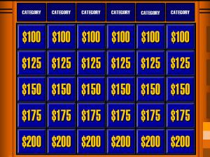 Jeopardy-Board