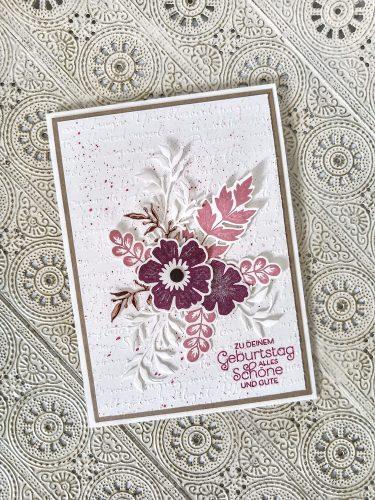 Florale Geburtstagskarte von Sophya_kreativ