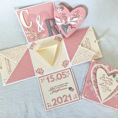 Explosionsbox als Hochzeitskarte von Sophya_kreativ