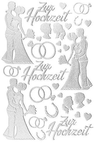 Hochzeitssticker für Gästebuch