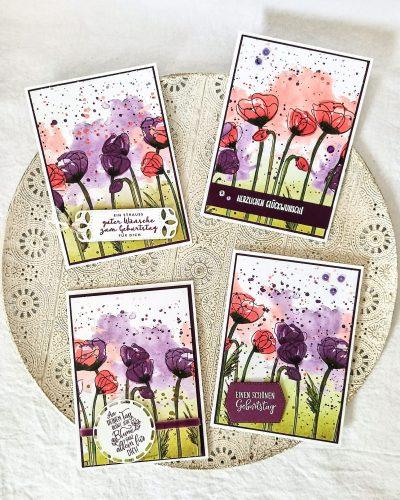 Aktuelle Mohnkarten-Kollektion von Sophya_kreativ