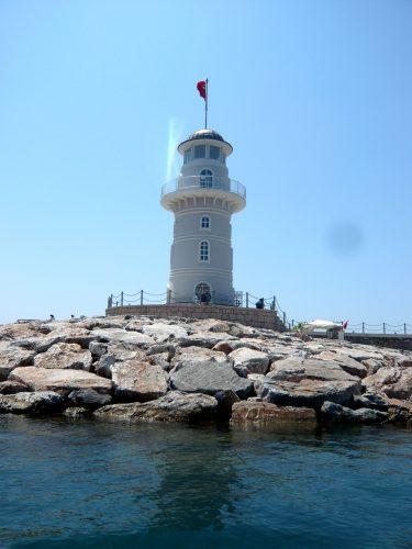 Turm beim Hafen Alanya