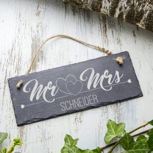 Hochzeitsschild Mr & Mrs