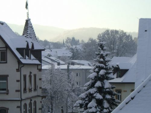 Winter in Freiburg-Zähringen